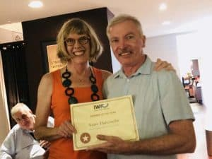 Anne Harcombe business networking member award