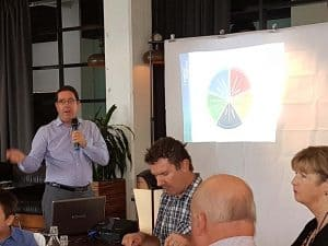 Robert Crowe Leading for Purpose at Drummoyne business networking meeting